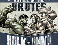 Hulk Distressed Canvas Poster (Marvel)