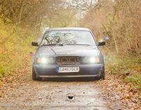 BMW E34 520iT Stance Fall