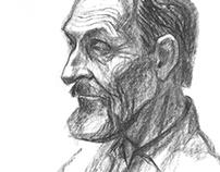 Portrait of a man. Sketch