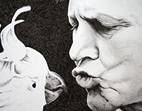 Sir David Attenborough Portrait
