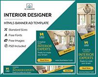 Interior Designer Banner - HTML5 Ad Template