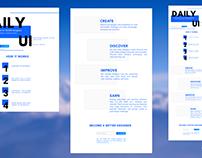 Daily UI #100: Daily UI Landing Page