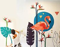 .ROOM BIRDS - MURALS.