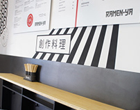 Ramen-ya ramen bar. Interior project.