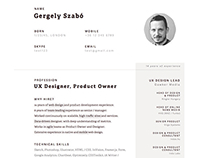 Print-ready Resume Template in Sketch