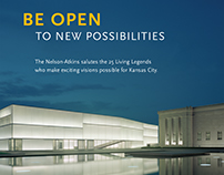 Be Open | identity for The Nelson-Atkins Museum of Art