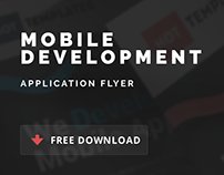 Free Mobile Development Application Flyer