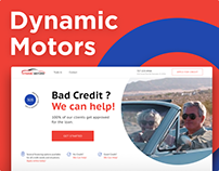 Landing page for Dynamic Motors