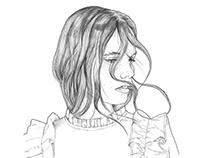 Woman portrait with freckles