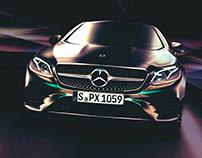 Mercedes E 350 Coupé - A personal project shot on film