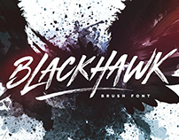 BLACKHAWK Brush Font by Sam Parrett