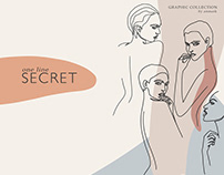 One Line Secret. Graphic collection
