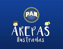 P.A.N. AREPAS ILUSTRADAS