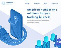 Trucking Solutions / Web UX/UI Design