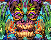 Psychedelic Tiki Creature