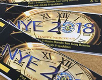 New year eve tickets and poster design