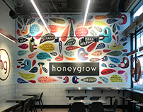 Mural for Honeygrow Restaurant