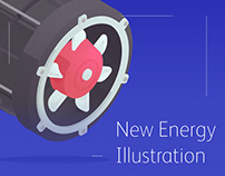 New Energy Project illustration Design