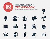 JI-Glyph Technology Icons Set