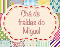chá de fraldas do Miguel