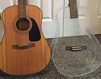 Plexiglass Acoustic Guitar