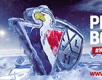 Frozen eagle