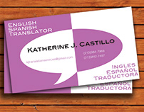Translator Business Card