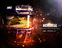 James Madison Football Memorial Day/Visor Graphic