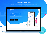 ParkWith - Landing Page Design UI UX Project