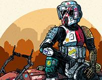 Outlaw Deserter Moto-Jet Rider