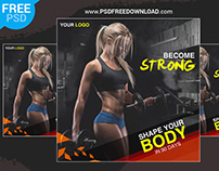 Fitness Banner Design PSD