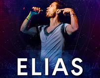 Flyer para el cantante Elías Rampello