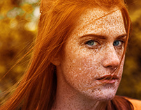 GALWAY GIRL - Red Haired Girl portrait