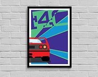 Poster Design - Ferrari F40