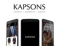 Kapsons Shopping App Design