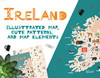 Ireland. Illustrated map