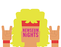 Geofilter and Button Designs for Newseum Nights