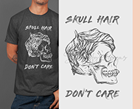 Skull Hair Don't Care T-Shirt Hoodie Design