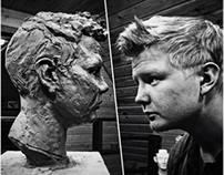 Old work. Sculpture portrait
