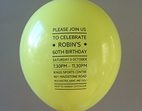 60th Birthday Party balloon invitation