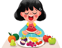 the fruits (illustrations for Magazine)