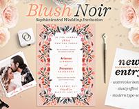 Blush Noir Wedding Invite IV