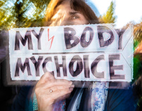 Pro Choice Rally Against Polish Abortion Ban In Berlin