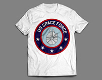 US Space Force Logo Design For T-Shirt