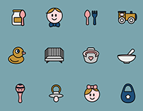 Baby Things Icon Set