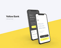 Yellow Bank | mobile app concept