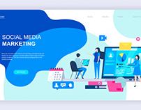 modern-flat-design-concept-social-media-marketing