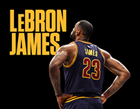History of LeBron James // Website Design