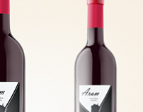 Labels for Aram and Mazruna Wines