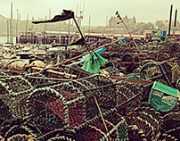 The harbour crab and Lobster pots Taken In Scarborough